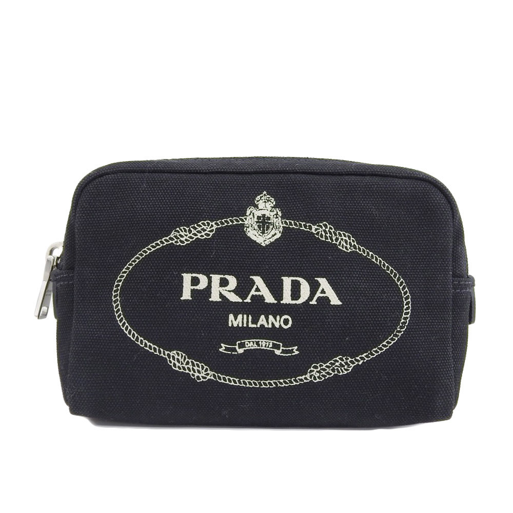 ab3b25ad0946 Prada PRADA 2018 product canvas cosmetic pouch 1NA021 used several times