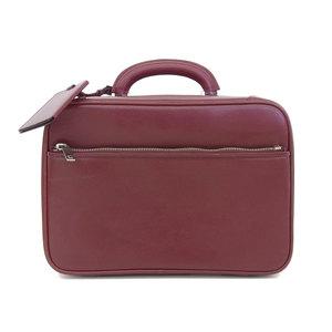 Valexstra VALEXTRA Avietta 30cm Small Briefcase Makeup Box Travel Bag Leather Hand