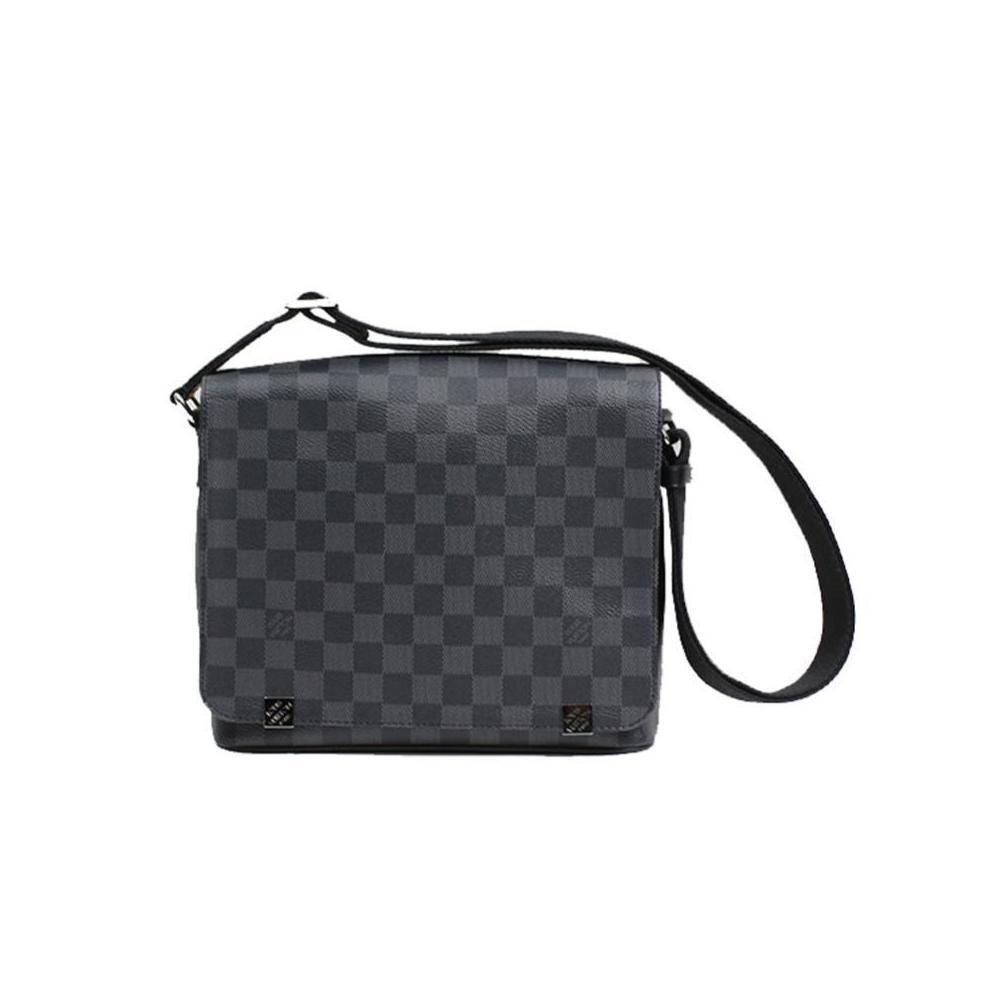 71139b35 Louis Vuitton Damier Graphite District PM NM N41028 Shoulder bag Men's  LOUISVUITTON   elady.com