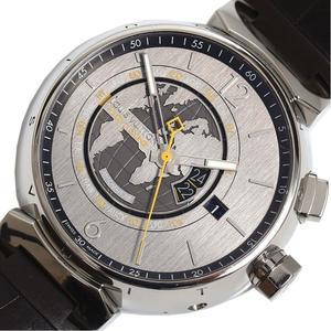 Louis Vuitton LOUIS VUITTON Tambour World Timer Q1055 Automatic Men's Watch