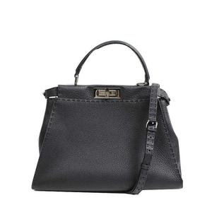 Fendi FENDI Celeria Peekaboo 8BN226 calf leather black shoulder bag