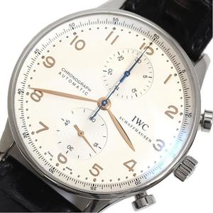IWC Portugese Chronograph IW371445 Automatic Mens Leather Belt Watch