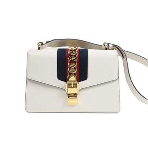 4a7b80a2cf5b Gucci GUCCI Silvi Small Shoulder Bag Leather Off White