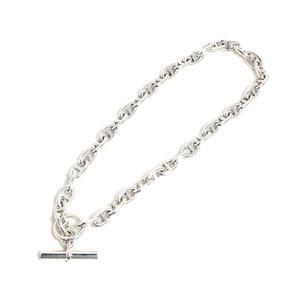 HERMES CHENUE Dunkle necklace SV925 double bracelet men's jewelry