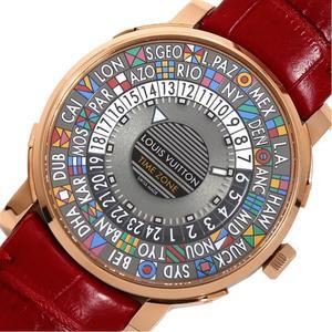 Louis Vuitton LOUIS VUITTON Escal Time Zone Q5EK4 Automatic PG SS Men's Watch