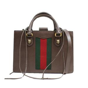1386be42fca5 Gucci GUCCI ANIMALIE 431277 Leather Brown Shoulder Bag
