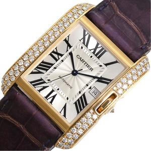 Cartier Tank Anglace LM WT100022 Self-winding Gold Solid Diamond Bezel