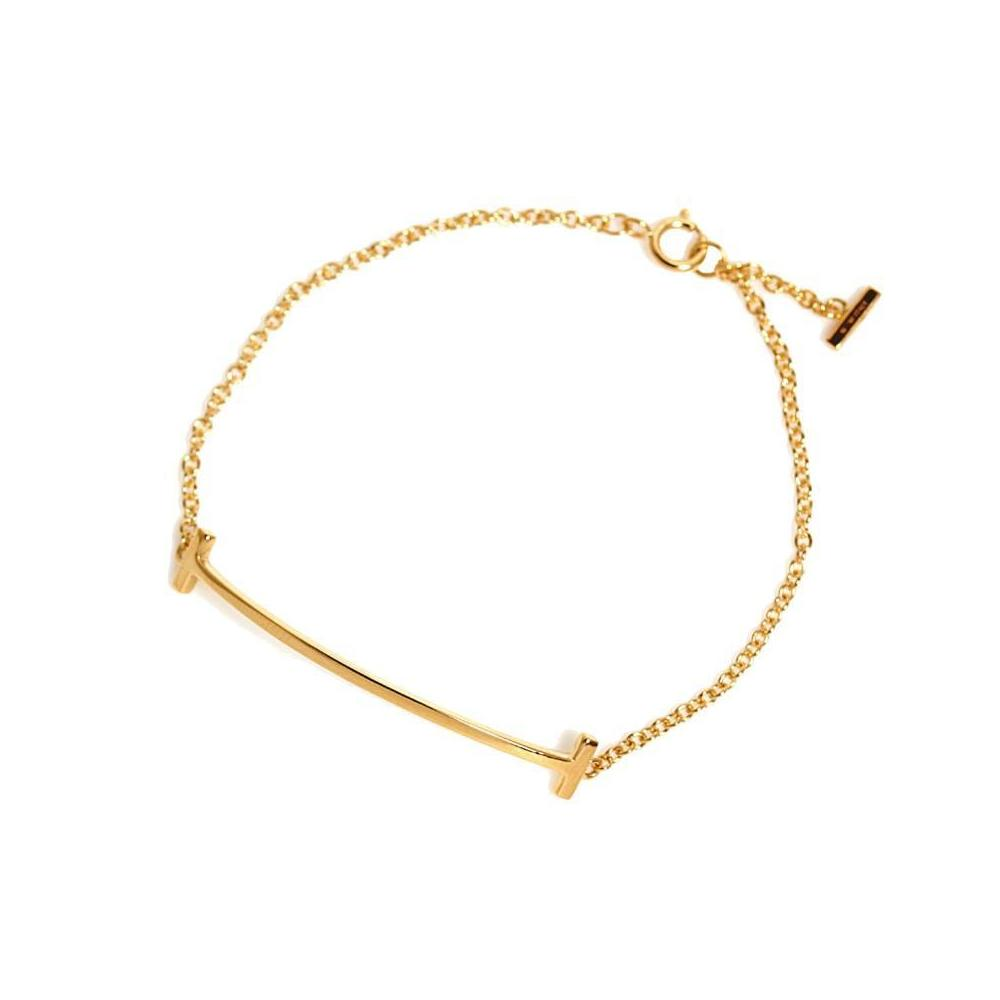 60c9076507300 Tiffany TIFFANY & CO T Smile Bracelet K18YG Women's Jewelry | eLady.com
