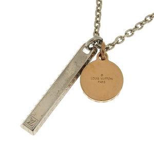 Genuine LOUIS VUITTON Louis Vuitton Corey Charm Chain Rosin Necklace Model: M64217