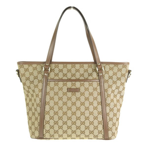 e40d976a73e4 Genuine GUCCI Gucci GG canvas 2WAY tote bag 388 929 leather