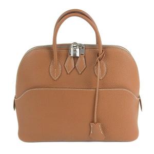 Genuine HERMES Hermes Togo Bored 1923 Handbag Gold Brown □ I engraved bag leather
