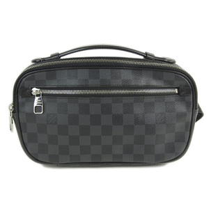 Genuine LOUIS VUITTON Louis Vuitton Damier Graphite Ambreil Bag Leather