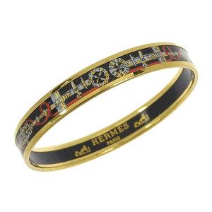Genuine HERMES Hermes Emaille bangle cloisonne black gold