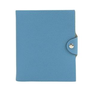 Genuine HERMES Hermes Yuris PM notebook cover Togo Blue Jean