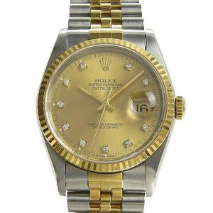 Genuine ROLEX Rolex Datejust Mens Automatic Wrist Watch Model: 16233G