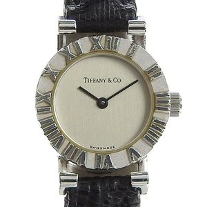 Genuine TIFFANY & Co. Tiffany SV925 Atlas Watch Ladies Quartz Model: S0640