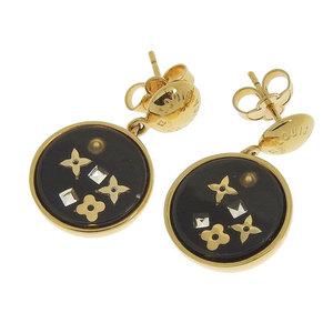 Genuine LOUIS VUITTON Louis Vuitton Brooke Dray Encoon Art Deco Earrings Black