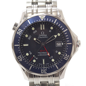 OMEGA Omega Men's Watch Seamaster 300 Coaxial GMT 2535.80 Blue Dial