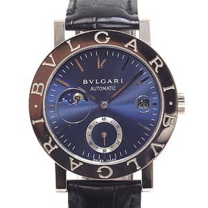 BVLGARI Men's Watch Classico BBW38GLMP Blue Dial 750WG Moonphase