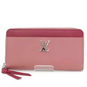 Louis Vuitton LOUIS VUITTON Zippy Rock Me Rosebudouir Reduvin Calf M62949 Round zipper wallet LV