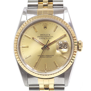 ROLEX Rolex Men's Watch Datejust 16233 R (made in 1987) Champagne dial