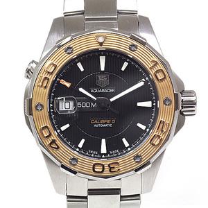 TAG HEUER Tag Heuer OVH finished Men's Watch Aqua Racer 500M Caliber 5 WAJ2150.BA0870 Black (Black) Dial