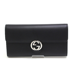 GUCCI Gucci interlocking G double-folded wallet 369663 black (black)