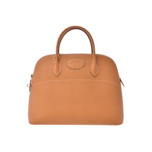 Hermes Bored 37 saffron G metal fittings ○ Y engraving Ladies fjord handbag AB rank HERMES used Ginzo