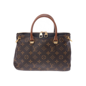 a110bba965d0 Louis Vuitton Monogram Paras BB Black M42960 Ladies Genuine Leather 2WAY  Handbag AB Rank LOUIS VUITTON
