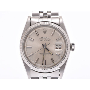 Rolex Datejust Silver Dial 1603 Mens SS Automatic Watch AB Rank ROLEX Used Ginzo