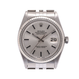 Rolex Datejust Silver Dial 1601/4 Mens SS Automatic Watch A rank Beauty Product ROLEX Kokusaibo used Ginzo
