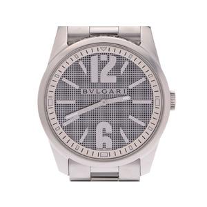 ブルガリ ソロテンポ42 白系文字盤 ST42S メンズ SS 自動巻 腕時計 Aランク 美品 BVLGARI 中古 銀蔵