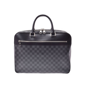 Louis Vuitton Damier Grafitt Overnight Black N41004 Men's Genuine Leather Business Bag A Rank Beauty Product LOUIS VUITTON Used Ginzo
