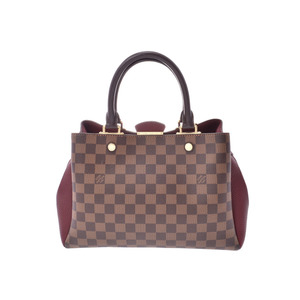 Louis Vuitton Damier Brittany Bordeaux series N41675 Women's genuine leather 2WAY bag A rank beauty item LOUIS VUITTON with strap Used Ginzo