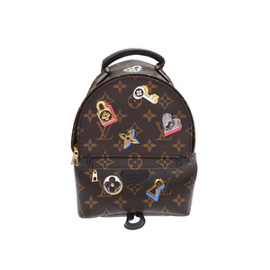 Louis Vuitton Monogram Lovelock Palm Spring Backpack Mini Brown M44367 Women's Genuine Leather Rucksack Unused Beauty Product LOUIS VUITTON Used Ginzo