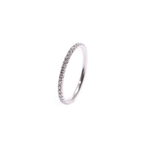 Tiffany Metrofull Eternity Ring # 8 Ladies WG Diamond 1.0g TIFFANY & CO Used Ginzo