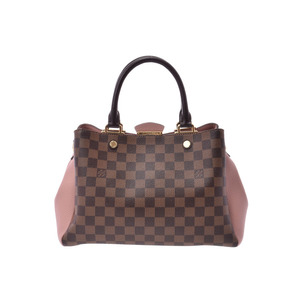 Louis Vuitton Damier Brittany Magnolia N41674 Ladies Genuine Leather 2WAY Bag A Rank Beauty Product LOUIS VUITTON With strap
