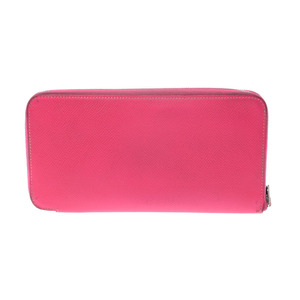 Hermes Azap Long Silk-in Rose Tillian □ P imprint Women's Epson long wallet B rank HERMES used Ginzo