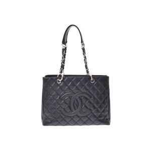 シャネル(Chanel) シャネル マトラッセ GSTチェーントートバッグ 黒 SV金具 レディース キャビアスキン Bランク CHANEL 中古 銀蔵