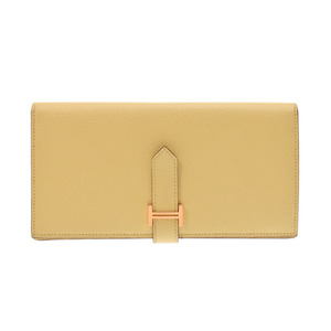 Hermes Beansfre Jeanne Boussin G Bracket T Engraved Ladies Men's Vaux Epson Long Purse A Rank Beauty Product HERMES Box