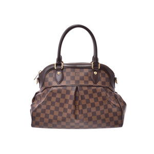 Louis Vuitton Damier Trevi PM Brown N51997 Ladies Genuine Leather 2WAY Handbag A Rank LOUIS VUITTON With strap