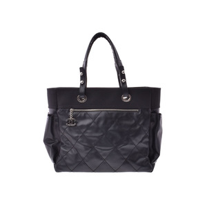 06d43b87b935cd Chanel Paris Biarritz GM Tote Bag Black Women's Calf / Canvas A Rank Good  item CHANEL