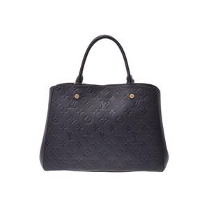 Louis Vuitton Anplant Montaigne MM Black M41048 Women's 2WAY Handbag A rank beauty item LOUIS VUITTON used Ginzo