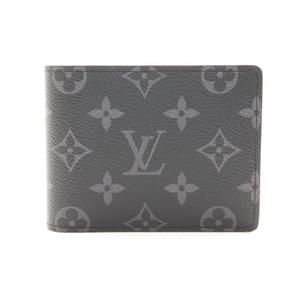 Louis Vuitton Monogram Eclipse Portofouille Multripple Men's Monogram Eclipse Wallet (bi-fold) Black