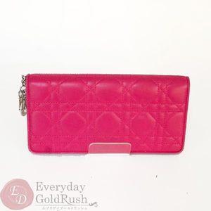 CHRISTIAN DIOR Christian Dior Canard Pink Purse Lambskin Women