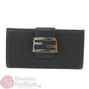 フェンディ(Fendi) FENDI フェンディ 8M0032 Wホック財布 ズッカ柄 ブラック