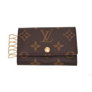 Louis Vuitton Monogram 6 consecutive key case Brown M62630 Women's Genuine leather AB rank LOUIS VUITTON used Ginzo