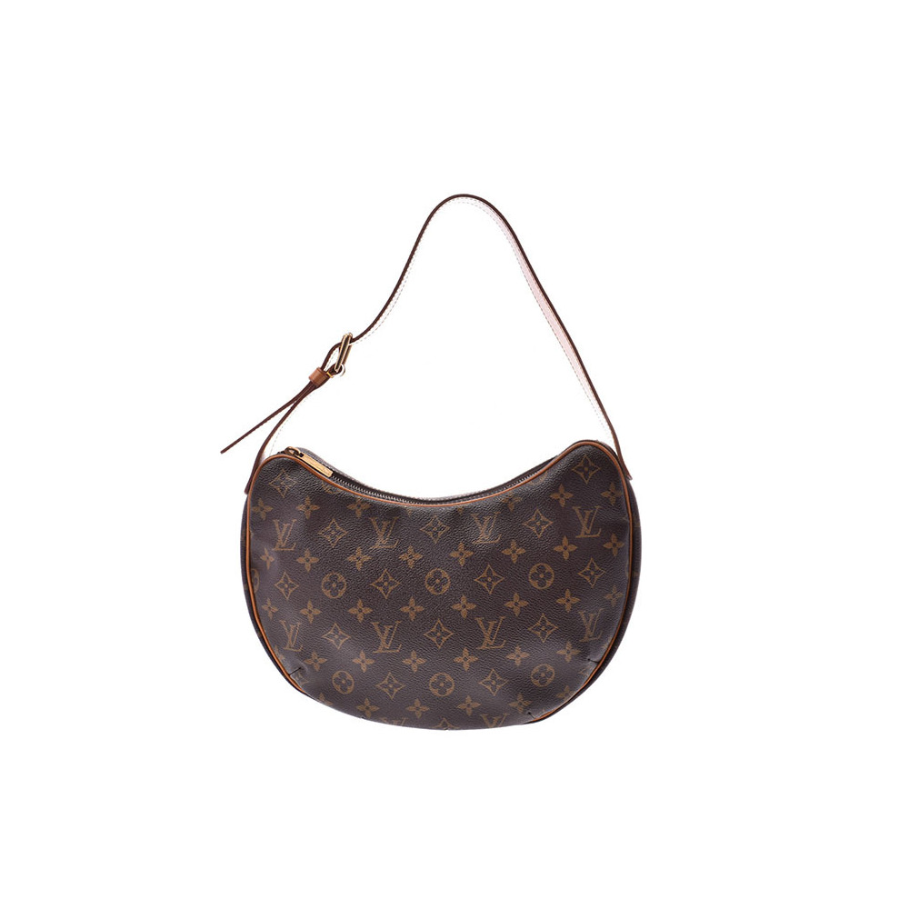 Louis Vuitton Monogram Croissant MM Brown M51512 Ladies Genuine Leather One-shoulder Bag B Rank LOUIS VUITTON Used Ginzo