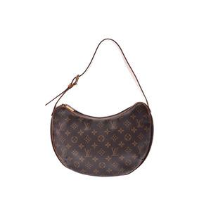 Louis Vuitton Monogram Croissant MM Brown M51512 Ladies Genuine Leather One-shoulder Bag B Rank LOUIS VUITTON Used Ginzo