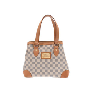Louis Vuitton Azur Hampstead PM White N51207 Ladies Genuine Leather Handbag B Rank LOUIS VUITTON Used Ginzo
